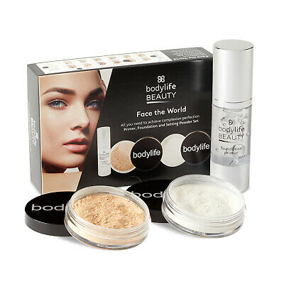 Bodylife Beauty Face The World Primer, Foundation And Setting powder Set Kiss