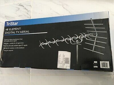 48 Element High Gain 4G Digital Tv Aerial Freeview Hd Loft Or Outdoor Rrp £29.80