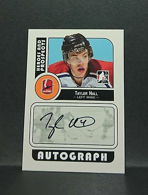 Taylor Hall 08-09 ITG heroes and ptospects rookie auto Rc autograph devils
