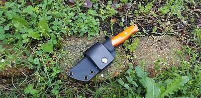 Custom Kydex sheath for the BARK RIVER GUNNY Knife with Leather Scout Loop.