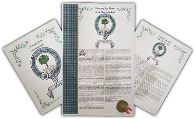 Find Your Name Here - Scottish Family Clan & Sept History, Buckle, Crest, Tartan