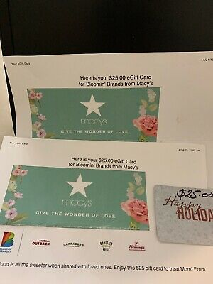 Outback Steakhouse Gift Cards $50 total (Bonefish Grill Carrabbas Flemings)