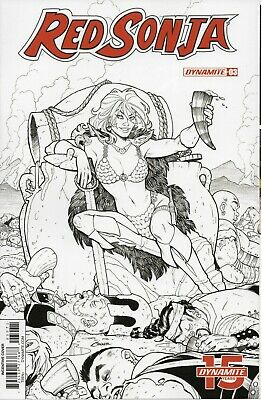 RED SONJA Vol 5 #3 Black & White Variant Cover by Conner 2019 Dynamite NM