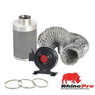 Rhino Pro Filter Fan Extraction 5M Filter Kit RVK Ducting Hydroponics Grow Tent