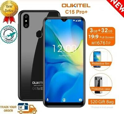 """2019 Oukitel C15 Pro+ 3GB+32GB 4G LTE 5G/2.4G WIFI Android9.0 6.08""""HD 19:9 GIFTS"""