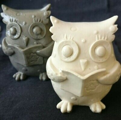 OWL READING Silicone Soap/Candle Mould Mold, Plaster, Resin, Melt and Pour Soap