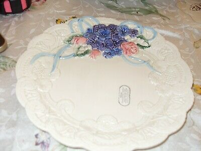 Fitz & Floyd Victorian set of 4 Lace Canape Plates Ribbons and Bows