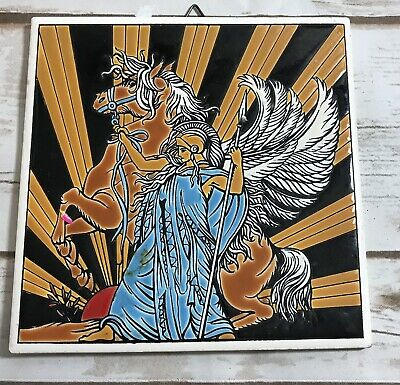 Vintage hand made by niarchos hellas made in greece tile Greek Mythology