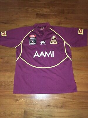 963af051348 Queensland Maroons State Of Origin Nrl Rugby League Warm Up Jersey Shirt-XL