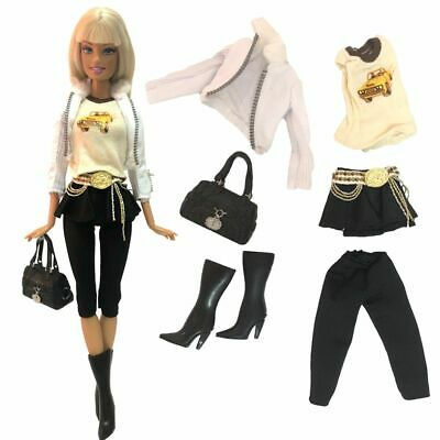 Fashion Doll Dress Set Outwear Clothing Model Coat Accessories Girl Gift Toys