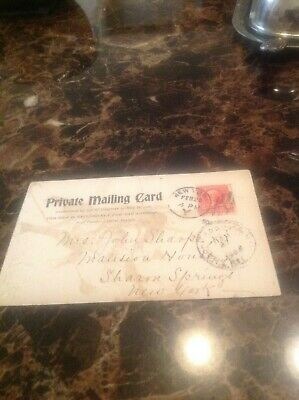 1904 Private Mailing Card w/ George Washington Stamp 2cent