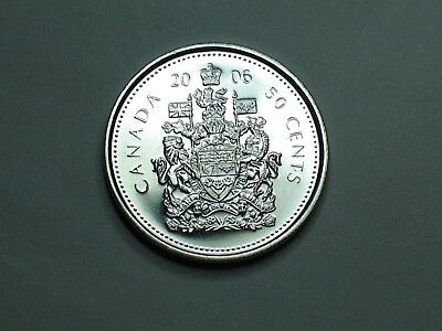 Canada 2006 Fifty 50 Cents/Half Dollar From Rcm Mint Roll ~Key Date Only 98000 M