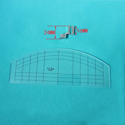 Quilting Ruler Template with Low Shank Ruler Foot Plastic #EN-01 for Sewing