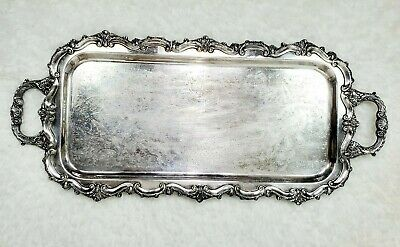 Towle Silverplate Rectangular Footed Silver Tray Silver Serving Platter