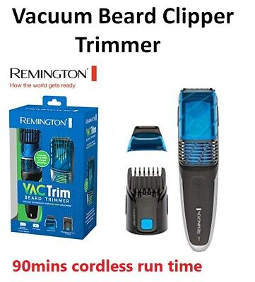 Remington Mens Cordless Beard Hair Clipper Trimmer with Vacuum Shaving Grooming
