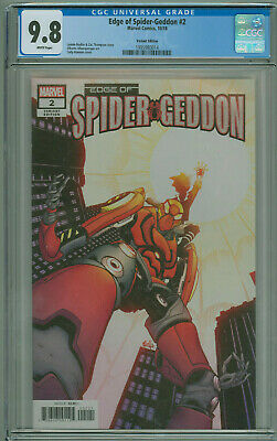 Edge of Spider-geddon #2 CGC 9.8 Variant 1st App Addy Brock Marvel 2018 Free Shi
