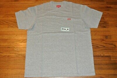 f9d5c95eb32f NEW SUPREME SS19 SMALL BOX TEE HEATHER GREY LARGE t-shirt box logo cdg  authentic