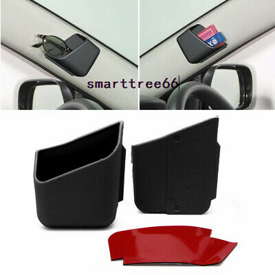 2X Car Accessories Glasses Organizer Auto phone Storage Box Holder Universal
