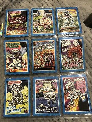 Oddbodz Blue Space Cards Glow Zone Full Set  61/61 - Including 2 Rare Cards