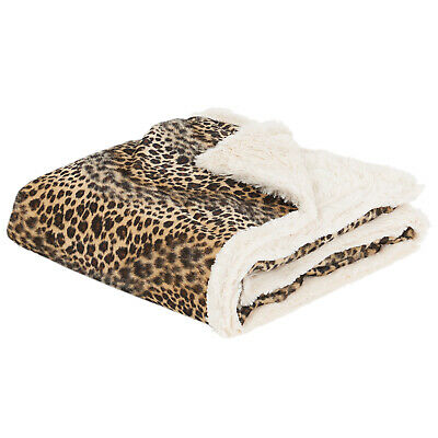 Me & My Pets Leopard Print Dog/Puppy Blanket Bed Soft Cosy Warm Throw 120x100cm