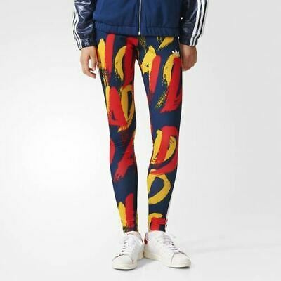 3e2bdb34307d2 WOMENS ADIDAS ORIGINALS Trefoil Graffiti Print Leggings Bnwt Uk Size ...