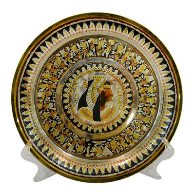 handmade pharaonic plate / ancient egyptian nefertari queen / made in egypt