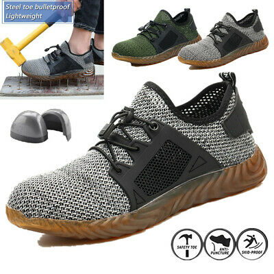 Men's Safety Breathable Work Shoes Steel Toe Boots Indestructible Labor Sneakers