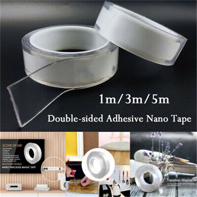 1-5M Double-sided Grip Tape Traceless Washable Adhesive Nano Invisible Gel Tape