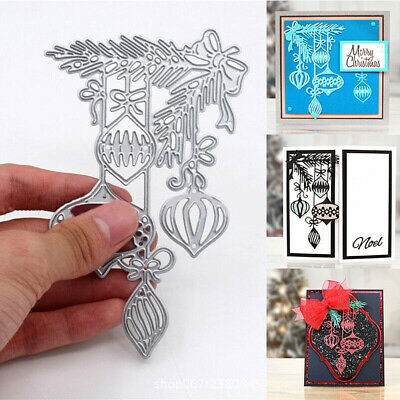 1PC Christmas Bauble Metal Embossing Craft Cutting Dies Stencil Scrapbook Card