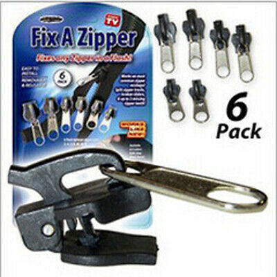 Rescue Instant Repair Kit Replacement As seen ON TV Slider 6Pc Fix A Zipper Zip
