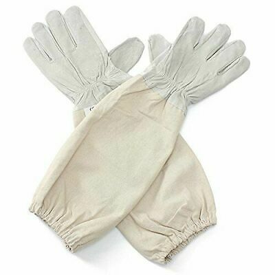 Beekeepers Soft Leather Gloves with Long Sleeve Cotton Cuffs
