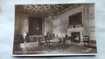 Vintage postcard,real photo,Warwick Castle,Queen Anne Style,Mahogany,1940s-1950s