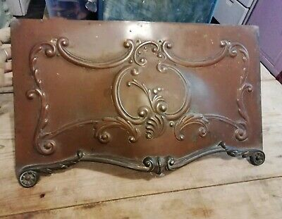Old ornate brass fire part