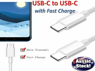 Strong Braided USB Type-C 3.1 USB-C to Male Data Snyc Charger Charging Cable AU