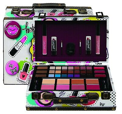 Technic Eden Chit Chat Cosmetic Vanity Case Beauty Gift Set MakeUp Carry Box New