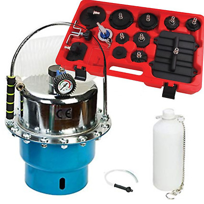 Portable Pneumatic Brake & Clutch Pressure Bleeding Kit Pre Charge & Adaptor Kit