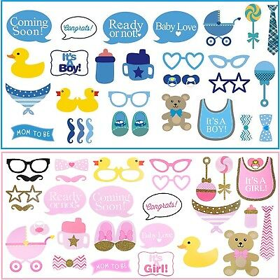29pcs Baby Shower Photo Booth Props Little Boy Mister New Born Party Decoration