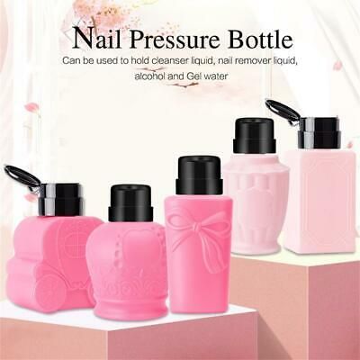 Clean Acetone  Pump Dispenser Container Empty Bottle Nail Polish Remover