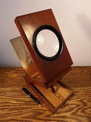 SUPERB LATE 19th CENTURY FRENCH GRAPHOSCOPE BY JULES HAUTECOEUR & 9 PHOTO CARDS