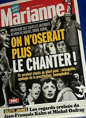 Marianne*20/12/2018*Rare N° Double**On N'oserait + Le Chanter*Couplets Interdits