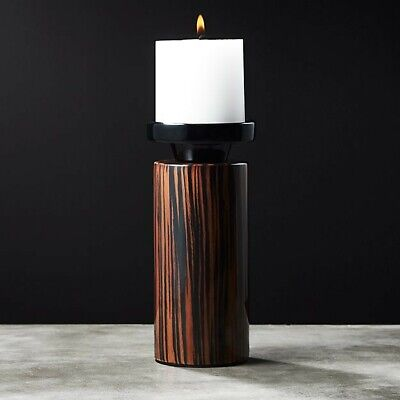 Cb2 Free Shipping >> Cb2 Crate Barrel Modern Wooden Pillar Candle Holder Free Shipping