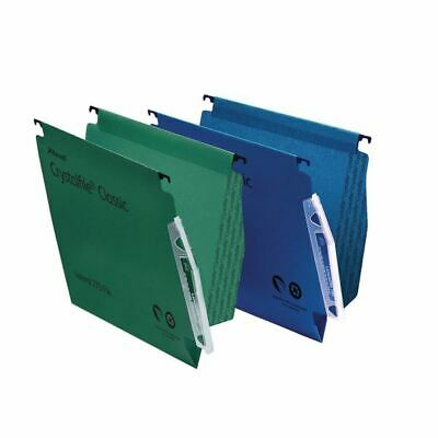 Rexel Crystalfile Classic `275` Lateral File 15mm Green (50) 78652
