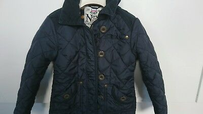 Next girls fleece lining quilted jacket 5-6 years VGC