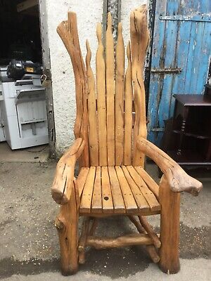 Quirky Large Heavy Tree Throne Chair - Very Unusual!   Ref A