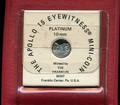 Franklin Mint Apollo XV Platinum 10mm Mini-Coin