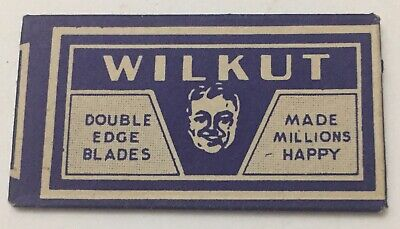 Vintage Collectible Razor Blade.  WILKUT Double Edge Blade V35. NOS  NEVER OPEN