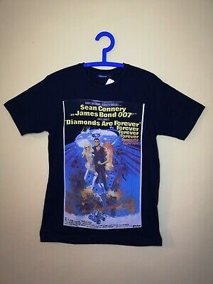d8ce06f17 James Bond 007 Sean Connery Diamonds Are Forever Black T-shirt Small New