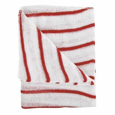 Red and White Hygiene Dishcloths 16x12 Inches Pack of 10 100755RD