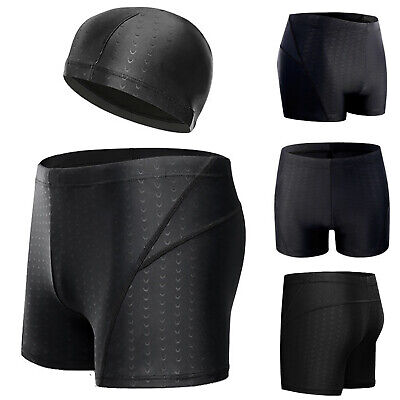 69425de762 Endurance+ Adult Mens Swimming Running Shorts Trunks With Hats Size L-5XL  New
