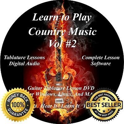 COUNTRY MUSIC VOL #2 3616 Guitar TABS Lesson CD 702 Backing Tracks + MEGA  BONUS